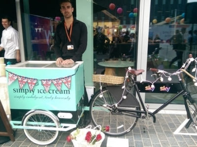 Ice Cream Cart Corporate Brand Launch fancyatreat