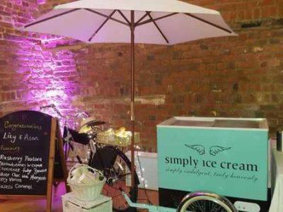 Wedding indoor Ice Cream Trike fancyatreat