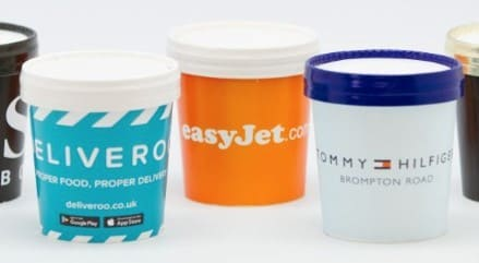 Ice Cream tubs corporate branding