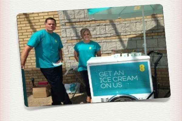 Corporate Branding Ice Cream Cart Fancyatreat
