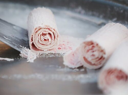 Ice Cream Rolls ready to be served